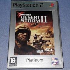 Videojuegos y Consolas: JUEGO COMPLETO PLAYSTATION PS2 DESERT STORM II ORIGINAL EN MUY BUEN ESTADO VER FOTOS. Lote 147733930