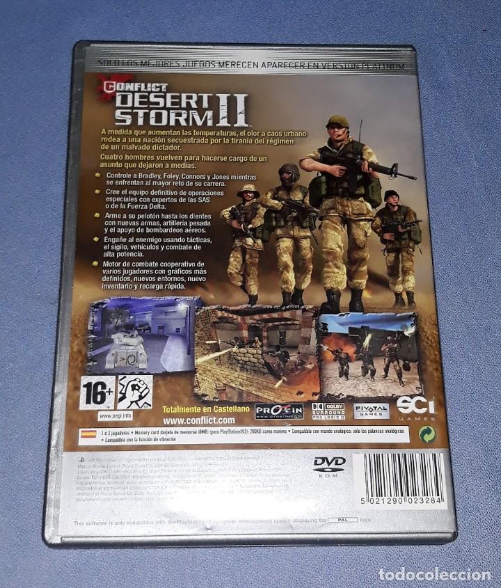 Videojuegos y Consolas: JUEGO COMPLETO PLAYSTATION PS2 DESERT STORM II ORIGINAL EN MUY BUEN ESTADO VER FOTOS - Foto 2 - 147733930