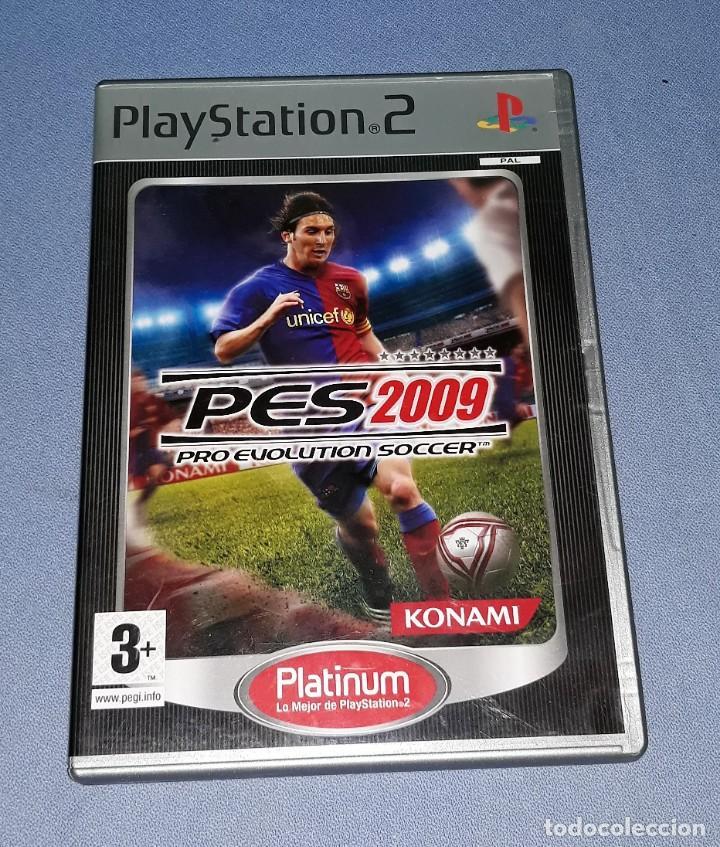 JUEGO COMPLETO PLAYSTATION PS2 PRO EVOLUTION SOCCER 2009 ORIGINAL EN MUY BUEN ESTADO VER FOTOS (Juguetes - Videojuegos y Consolas - Sony - PS2)