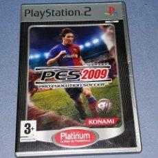 Videojuegos y Consolas: JUEGO COMPLETO PLAYSTATION PS2 PRO EVOLUTION SOCCER 2009 ORIGINAL EN MUY BUEN ESTADO VER FOTOS. Lote 147736262
