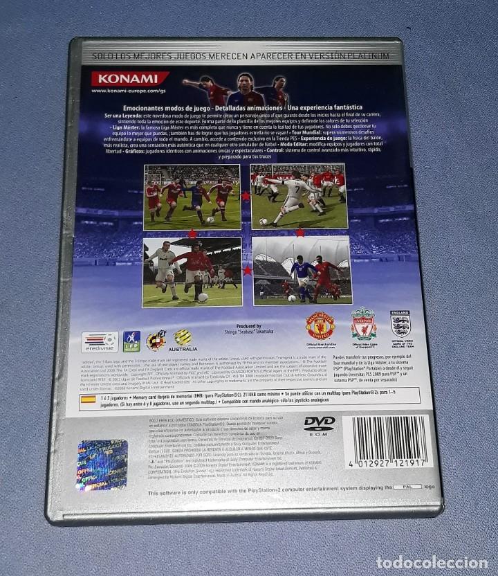 Videojuegos y Consolas: JUEGO COMPLETO PLAYSTATION PS2 PRO EVOLUTION SOCCER 2009 ORIGINAL EN MUY BUEN ESTADO VER FOTOS - Foto 2 - 147736262