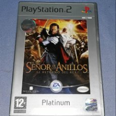 Videojuegos y Consolas: JUEGO COMPLETO PLAYSTATION PS2 SEÑOR ANILLOS RETORNO DEL REY ORIGINAL EN MUY BUEN ESTADO VER FOTOS. Lote 147738346