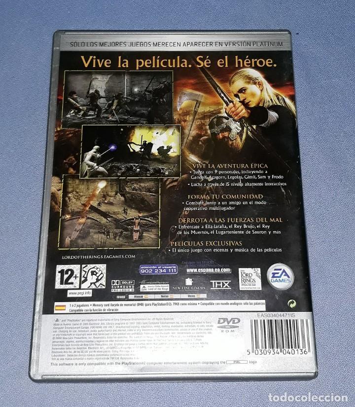 Videojuegos y Consolas: JUEGO COMPLETO PLAYSTATION PS2 SEÑOR ANILLOS RETORNO DEL REY ORIGINAL EN MUY BUEN ESTADO VER FOTOS - Foto 2 - 147738346