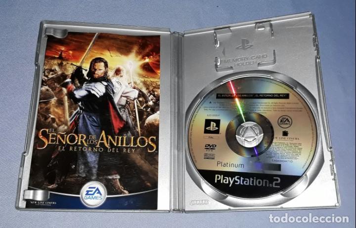 Videojuegos y Consolas: JUEGO COMPLETO PLAYSTATION PS2 SEÑOR ANILLOS RETORNO DEL REY ORIGINAL EN MUY BUEN ESTADO VER FOTOS - Foto 3 - 147738346