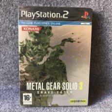 Videojuegos y Consolas: METAL GEAR SOLID 3 SNAKE EATER EDICION METALICA LIMITADA NUEVO SONY PLAYSTATION 2. Lote 147800544