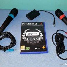 Videojuegos y Consolas: JUEGO COMPLETO DE MICROFONOS PLAYSTATION Y SINGSTAR MECANO MUY BUEN ESTADO VER FOTOS Y DESCRIPCION. Lote 148810706