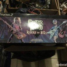 Videojuegos y Consolas: GUITARRA GUITAR HERO ROCKS THE 80 ROCK PS2 PLAYSTATION 2 PLAY STATION TWO ACCESORIO KREATEN. Lote 149748234