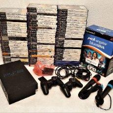 Videojuegos y Consolas: GIGANTESCO LOTE PS2 CON 88 JUEGOS DIFERENTES + 2 MANDOS + CONECTURES Y OTROS (SI FUNCIONA). Lote 150022838