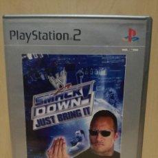 Videojuegos y Consolas: JUEGO PS2 / PLAY STATION 2 - SMACK DOWN! JUST BRING IT! (IDIOMA INGLES). Lote 150420778