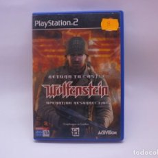 Videojuegos y Consolas: RETURN TO CASTHEL WOLFENSTEIN PS2 . Lote 151870454