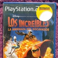 Videojuegos y Consolas: JUEGO PLAYSTATION 2 *LOS INCREIBLES, LA AMENAZA DEL SOCAVADOR*. Lote 114470835
