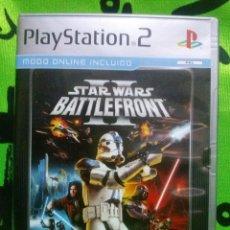 Videojuegos y Consolas: JUEGO PLAYSTATION 2 *STAR WARS BATTLEFRONT II* ... COMPLETO Y EN MUY BUEN ESTADO.. Lote 152229502