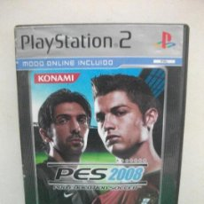 Videojuegos y Consolas: PRO EVOLUTION SOCCER 2008 JUEGO PLAYSTATION 2 . Lote 152235018