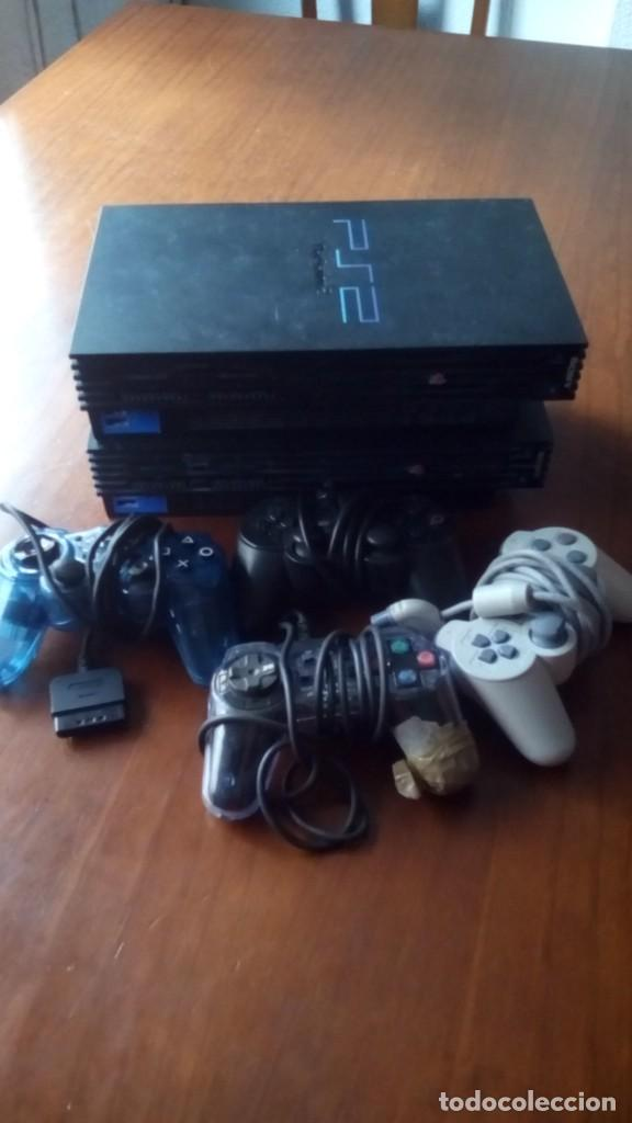 LOTE DOS PLAY 2 PLAY STATION 2 Y 4 MANDOS PARA REPARAR O PIEZAS (Juguetes - Videojuegos y Consolas - Sony - PS2)
