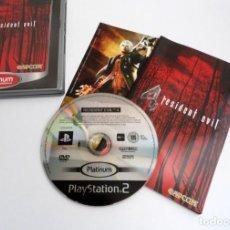 Videojuegos y Consolas: RESIDENT EVIL 4 - EDICION PLATINUM - SONY PS2 - PLAYSTATION 2 - PERFECTO ESTADO. Lote 152912182