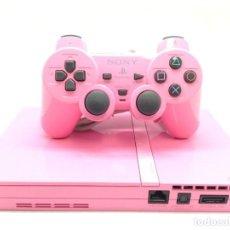 Videojuegos y Consolas: SONY PS2 SLIM ROSA COMPLETA CON CABLES Y MANDO DUALSHOCK 2 PLAY STATION 2 PAL!! R3389. Lote 153190886