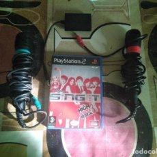 Videojuegos y Consolas: SINGSTAR PLAYSTATION 2 CON UN JUEGO FUNCIONANDO. Lote 153469162