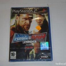 Videojuegos y Consolas: JUEGO PLAY STATION 2, SMACK DOW S V RAW 2009, NUEVO SIN ABRIR, PRECINTADO.. Lote 153932926