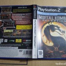 Videojuegos y Consolas: PS2 PLAY STATION 2 MORTAL KOMBAT DECEPTION PAL ESPAÑA. Lote 156792722