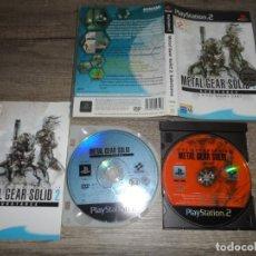 Videojuegos y Consolas: PS2 METAL GEAR SOLID 2: SUBSTANCE PAL UK COMPLETO. Lote 156802562