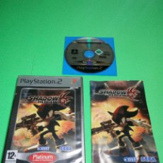 Videojuegos y Consolas: SHADOW THE HEDGEHOG PS2. Lote 159118070