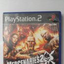 Videojuegos y Consolas: MERCENARIES 2 WORLD IN FLAMES PS2. Lote 160068268