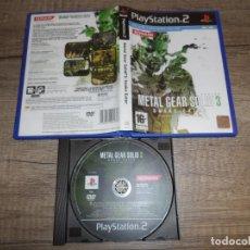 Videojuegos y Consolas: PS2 METAL GEAR SOLID 3 PAL ESP SIN INSTRUCCIONES. Lote 160486274