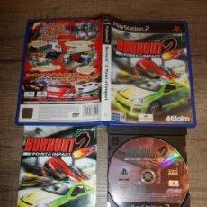 Videojuegos y Consolas: PS2 BURNOUT 2 PAL ESP COMPLETO. Lote 161356458