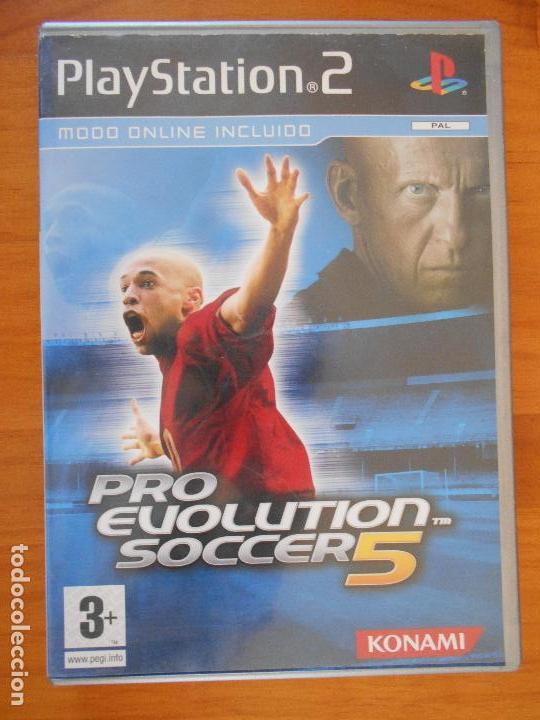 PS2 - PRO EVOLUTION SOCCER 5 - PES 5 - PLATINUM - PAL ESPAÑA - LEER  DESCRIPCION (D7)