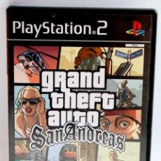 Videojuegos y Consolas: GRAND THEFT AUTO SAN ANDREAS GTA SOLO CAJA Y CARATULA SIN DISCO DE PLAYSTATION 2 SPX PLAY STATION. Lote 163972494
