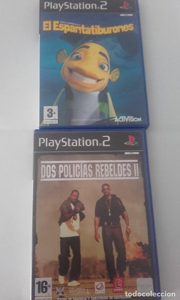 LOTE DE DOS JUEGOS PLAY 2 DOS POLICITAS REBELDES 2 Y EL ESPANTATIBURONES. (Juguetes - Videojuegos y Consolas - Sony - PS2)