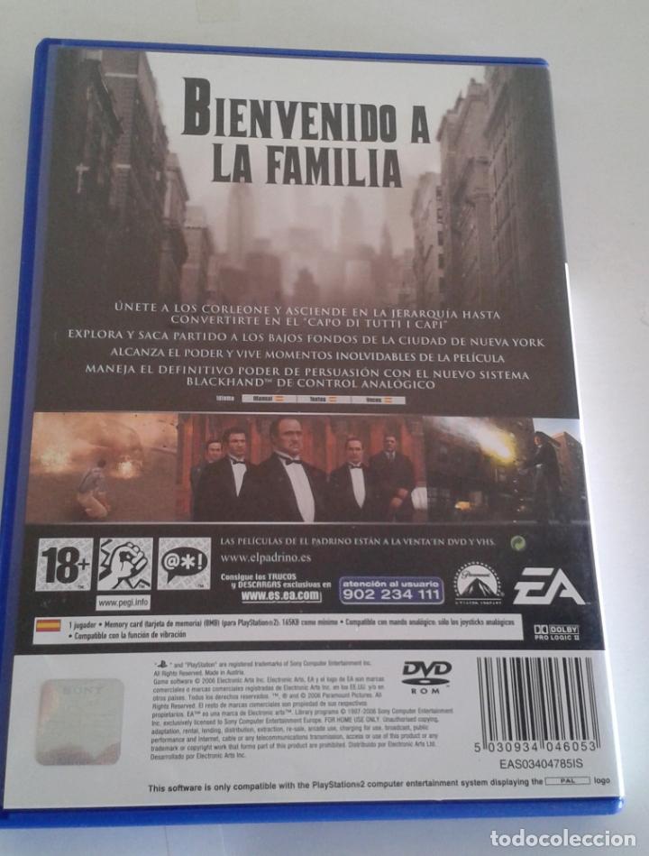 Videojuegos y Consolas: VIDEOJUEGO SONY PS2 PLAYSTATION EL PADRINO. COMPLETO. DIFÍCIL. DESCATALOGADO. - Foto 3 - 165393970