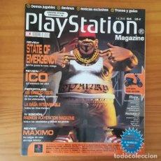 Videojuegos y Consolas: PLAYSTATION MAGAZINE 64, ABRIL 2002. STATE OF EMERGENCY, ICO, SAGA FINAL FANTASY, MAXIMO.... Lote 166663398