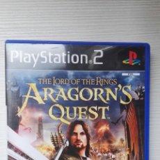Videojuegos y Consolas: ARAGORN'S QUEST EL SEÑOR DE LOS ANILLOS PS2. Lote 167776065