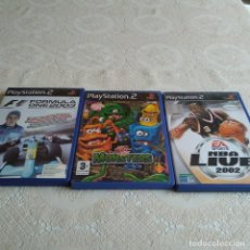 Videojuegos y Consolas: G-RD3GL LOTE DE 3 JUEGOS PS2 PLAYSTATION 2 MONSTERS BUZZ JUNIOR FORMULA ONE 2003 NBA LIVE 2002 . Lote 169794440
