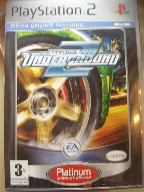 NEED FOR SPEED UNDERGROUND 2 ORIGINAL PARA PS2. SEMINUEVO. (Juguetes - Videojuegos y Consolas - Sony - PS2)