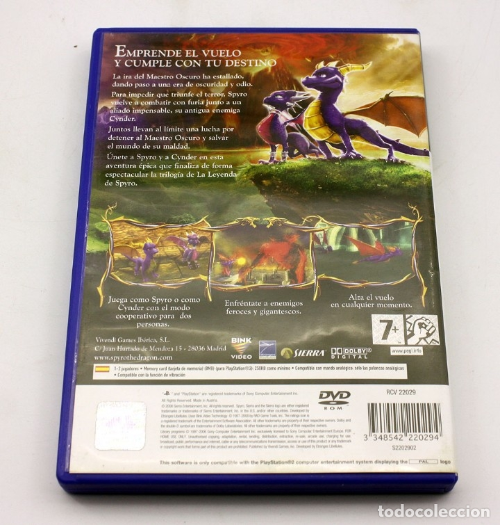 Videojuegos y Consolas: PS2 - LA LEYENDA DE SPYRO - LA FUERZA DEL DRAGON - VERSIÓN ESPAÑOLA - Foto 3 - 211564175