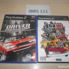 Videojuegos y Consolas: PS2 - DRIVER PARALLEL LINES + GTA III. Lote 173502160