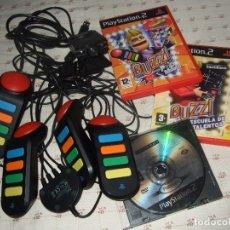 Videojuegos y Consolas: LOTE PLAYSTATION 2 PS2 JUEGOS BUZZ MANDOS BUZZ CAMARA Y JUEGO PLAY 3. Lote 173988724