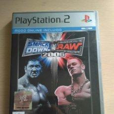 Videojuegos y Consolas: SMACK DOWN VS. RAW 2006 - JUEGO ORIGINAL PARA PLAY STATION 2. Lote 174063173
