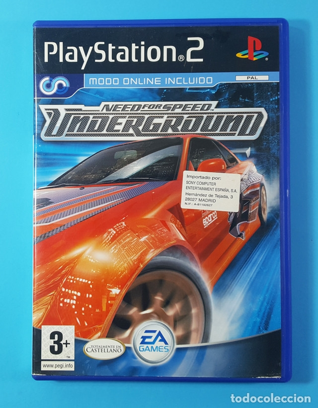 Need For Speed Underground Playstation 2 Ps2 Pa Buy Video Games