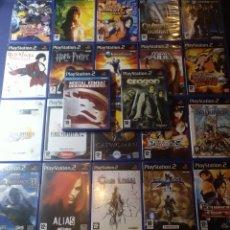Videojuegos y Consolas: LOTE DE 22 JUEGOS CON MANUALES PS2. Lote 174525228