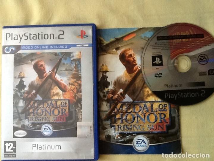 VIDEO JUEGO. PLAYSTATION 2, MEDAL OF HONOR RISING SUN, CON LIBRO DE INSTRUCCIONES. (Juguetes - Videojuegos y Consolas - Sony - PS2)