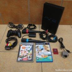 Videojuegos y Consolas: LOTE DE CONSOLA - PS2 , PLAYSTATION 2 + MICROS SINGSTAR + CAMARA EYE TOY + MEMORY CARD Y 2 JUEGOS. Lote 276316013