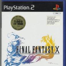 Videojuegos y Consolas: FINAL FANTASY X . 2 DISCOS NUEVOS!!! SONY PLAYSTATION 2 PAL DVD BONUS ENTREVISTAS ARTE. VER FICHA. Lote 176495860