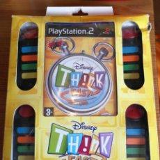 Videojuegos y Consolas: PS2 - DISNEY THINK FAST + 4 PULSADORES MANDOS BUZZ. Lote 176670403