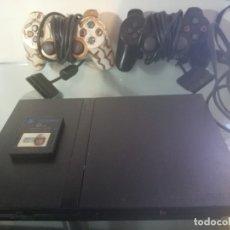 Videojuegos y Consolas: PLAY STATION 2 SLIM + 2 MANDOS+CAJA+MEMORY+CABLES.. Lote 177288098