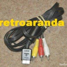 Videojuegos y Consolas: CABLE VIDEO PARA PLAYSTATION 1 Y 2 NEGRO - ORIGINAL ... EXCELENTE ESTADO.. Lote 220749322