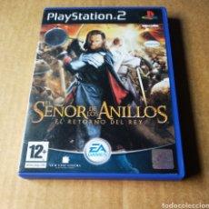 Videojuegos y Consolas: JUEGO PLAYSTATION 2 PS2 EL SEÑOR DE LOS ANILLOS: EL RETORNO DEL REY (EA GAMES, 2003). INCLUYE MANUAL. Lote 177632147