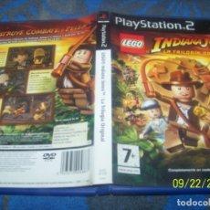 Videojuegos y Consolas: LEGO INDIANA JONES LA TRILOGIA ORIGINAL PS2 PAL ESP. Lote 135942142